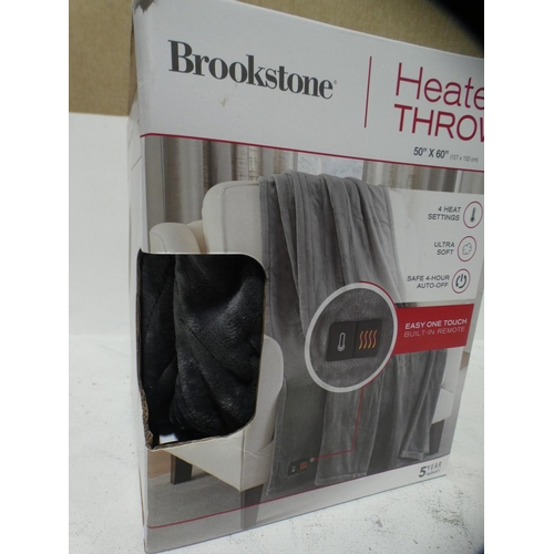 3031 - Brookstone Heated Throw (50Cm X 60Cm) (215-530) * This lot is subject to VAT...