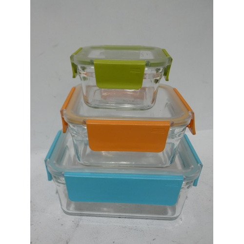 3034 - Cafe Express 38Oz Container And Lid and Glasslock Fd Storage Containers     (215-500, 519) * This lo...