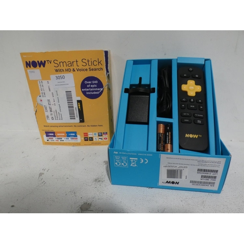 3050 - Now TV Smart stick with HD voice search * This lot is subject to VAT...