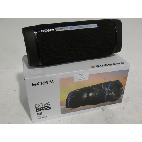 3054 - Sony Wireless Speaker (SRS-XB33) (215-515) * This lot is subject to VAT...