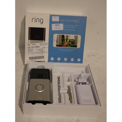 3056 - Ring Video Doorbell With Chime (215-493, 498) * This lot is subject to VAT...