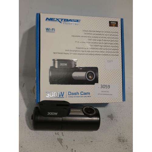 3059 - Nextbase 300W Dash Cam (215-277) * This lot is subject to VAT...