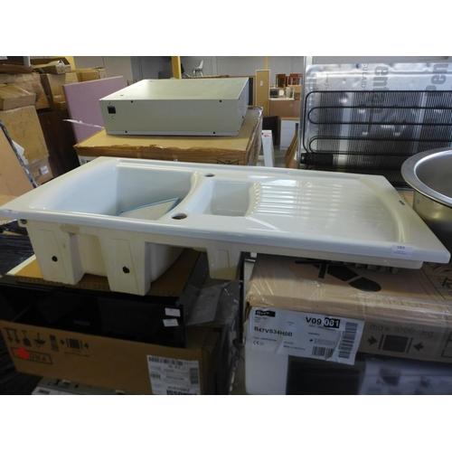 1403 - 500x1000 Skye 1.5 Bowl RVS Ceramic, RRP £307.5 inc. VAT * VAT will be added to the hammer price of t...