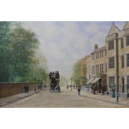 1 - Tom Bower, Hagley Road, Five Ways, Birmingham, oil on canvas, 50 x 75cms, framed...