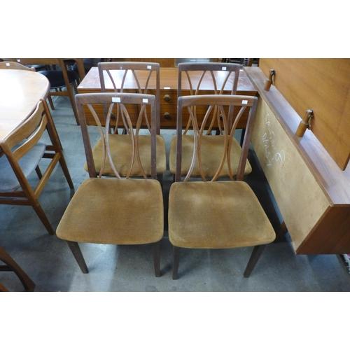 A set of four G-Plan Fresco teak dining chairs
