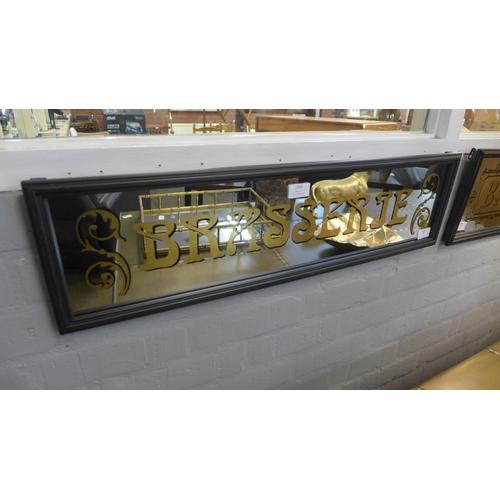 1356 - A 'Brasserie' mirror, 20cm x 74cm (TJN032311)   #...