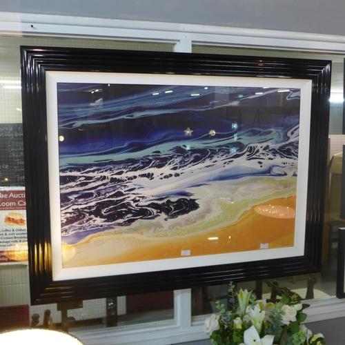1423 - A Nancy Wood framed print, Organic Sea, 110 x 90 (PPFPPR41240G70)   #