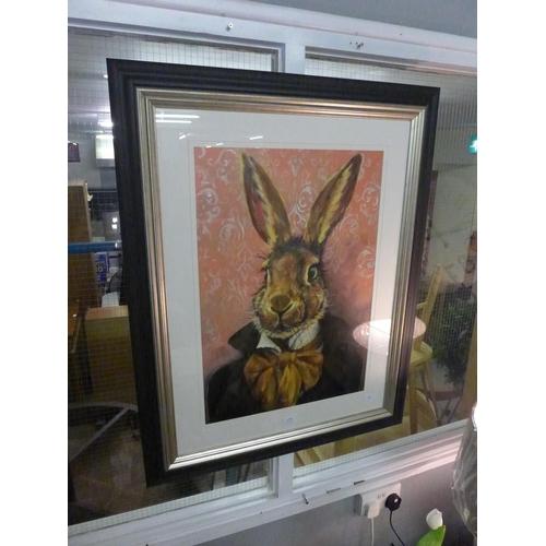1438 - A Louise Brown frame print, Lord Bunnikins, 60 x 80 (PPFPPR51078G44)   #...