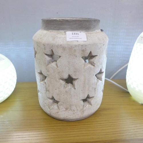 1447 - A Bloomville stone star lantern, 24cms (2072806)   #...