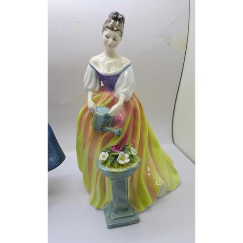 602 - Three Royal Doulton figures, Fragrance, Sandra and Alexandra...