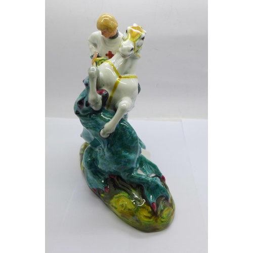 603 - A Royal Doulton figure of St. George and the dragon...