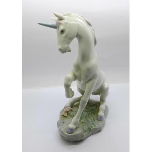 605 - A Lladro Privilege figure, Magical Unicorn...