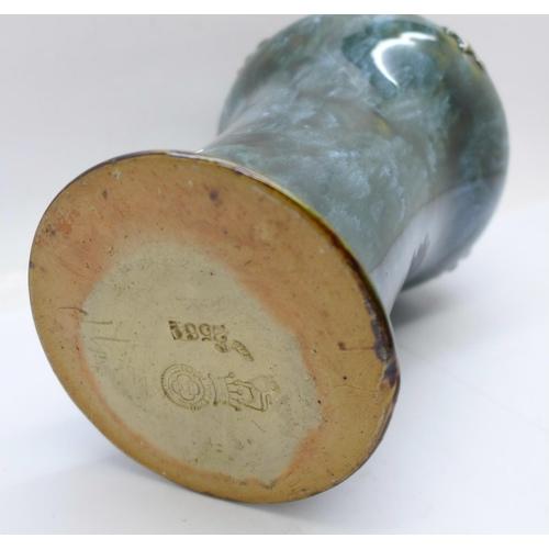 616 - A Royal Doulton stoneware flagon, 22cm...