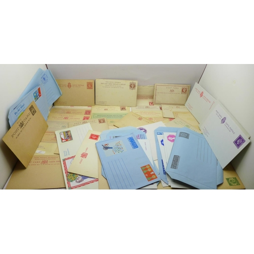 628 - Stamps; GB and Commonwealth mint postal stationery (60 items)