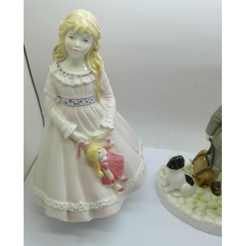 629 - Five Royal Worcester figures with certificates of authenticity; I Dream, Can I Come Too...., I Pray ...