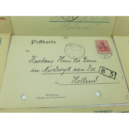 632 - A collection of pre-WWI postcards from Germany to Holland (19)...