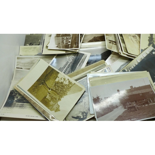 635 - Postcards; selection of Real Photographic postcards (110)...