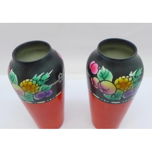 643 - A pair of Shelley vases, 13cm...