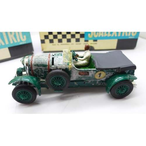 646 - Two Scalextric Vintage Car Racing cars, Bentley C.64 and Alfa Romeo (1933) C.65, boxed...