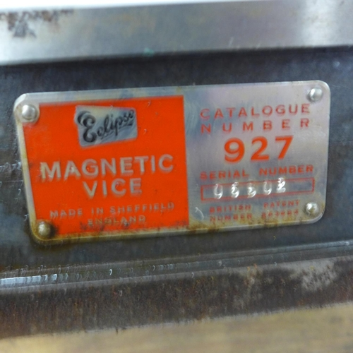2002 - Eclipse magnetic vice jaw & key no. 927 in box - old but never used...