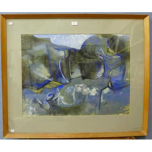 35 - Audrey Cooper, abstract, mixed media, 50 x 73cms, framed...