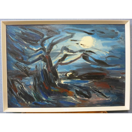 39 - Peter Humphrey, abstract, acrylic, 70 x 100cms, framed...