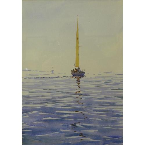44 - Two English School watercolours, maritime scenes, framed...