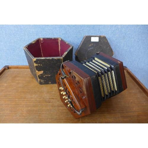 58b - A Victorian squeeze box, a/f...