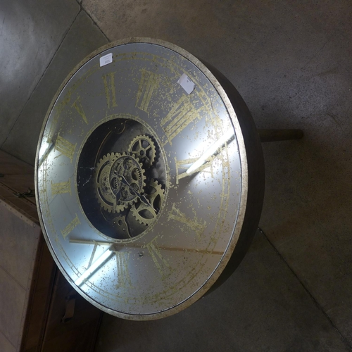 1315 - A circular mirrored moving gears clock table (186869)   #...