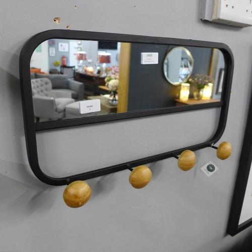 1469 - A Lynfield coat hanger with mirror, 50 x 27cm (LA712818)   #