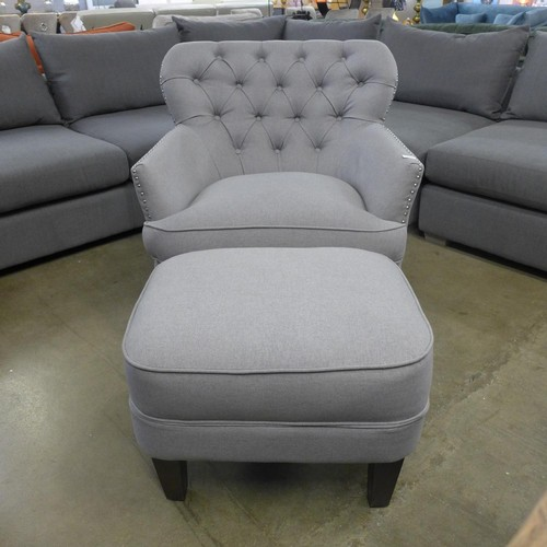 1313 - A FABRIC CHAIR WITH OTTOMAN, RRP £333.33 + vat (4053-69)   *This lot is subject to vat...