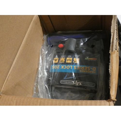 3007 - Ten Ultimate Hardware Hardened D-Series Lock 205 bike locks (new/unused)...