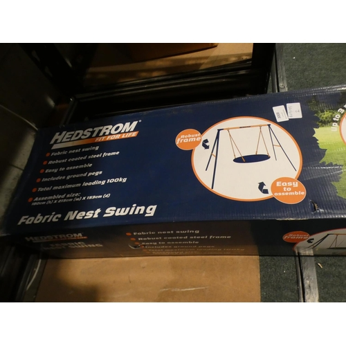 3008 - A Hedstrom fabric nest swing (new/unused)...