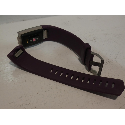 3033 - Fitbit Charge 2 Plum Smart Watch (no charging lead/damaged strap)    (220-232) * This lot is subject...
