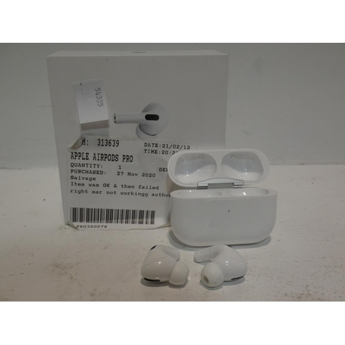 3035 - A pair of Apple Airpod Pro headphones (220) * This lot is subject to VAT...