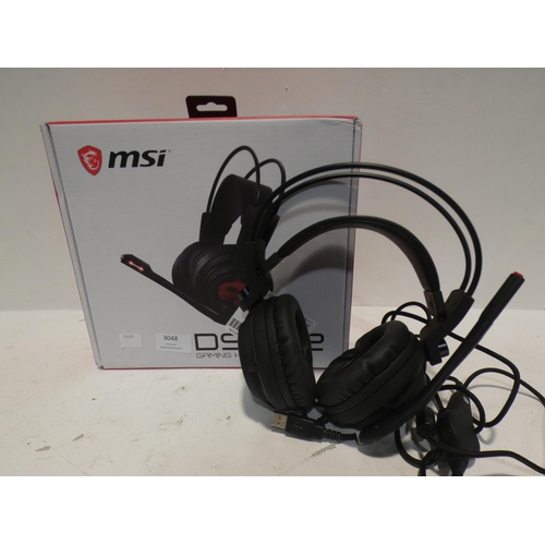 3048 - Msi Gaming Headset Ds502  (220-351) * This lot is subject to VAT...