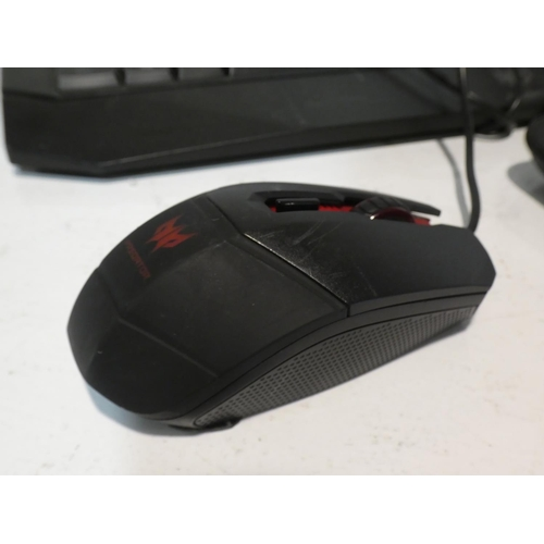 3050 - Predator Gaming Keyboard and Logitech Keyboard & Mouse  (220-10, 13) * This lot is subject to VAT...