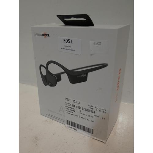 3051 - Trekz Air Grey Wireless Headphones (220-94) * This lot is subject to VAT...