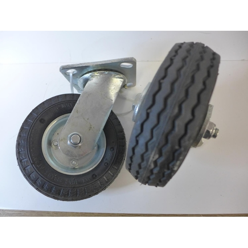 "2 x 6"" swivel castor wheels * this lot is subject to VAT"