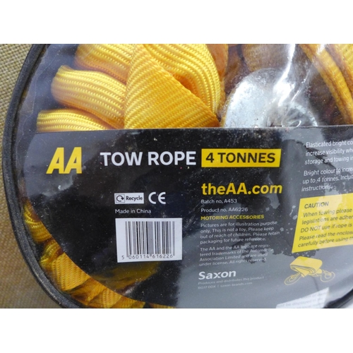 2009 - 2 x AA 4-tonne tow ropes - new...
