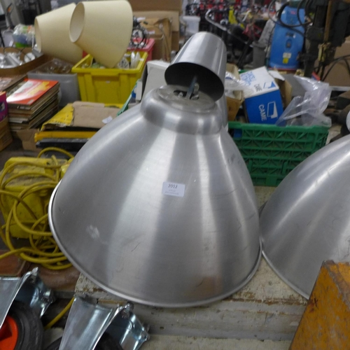 2012 - 3 Large Ikea industrial style light fittings...