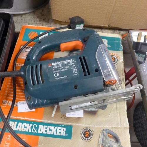 2019 - Black & Decker drill & jigsaw (model No KS633E & H720H)...