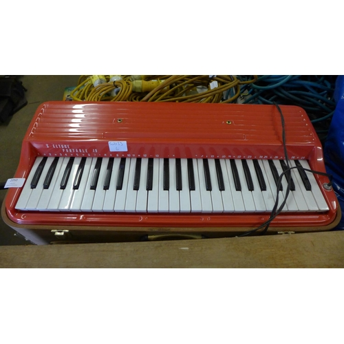 2050 - Shelton portable 49 electric keyboard - failed electrical safety test due to damage cable - sold as ...