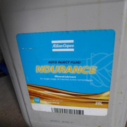 2054 - 20L of Ndurance compressor oil...