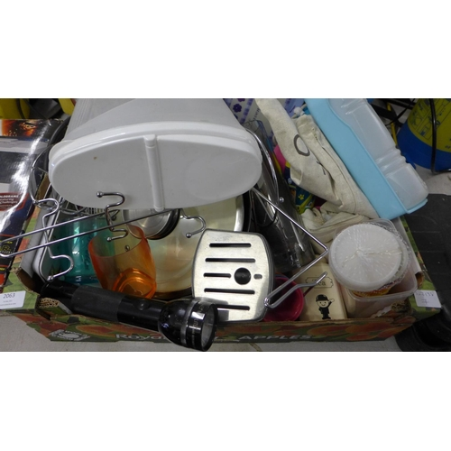 2063 - Box of household & kitchenware...