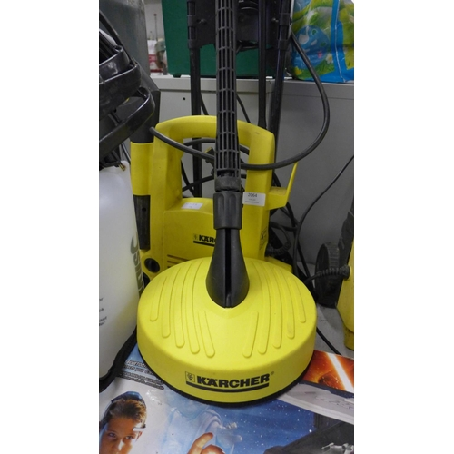 2064 - Karcher jet washer with patio cleaner head - W...