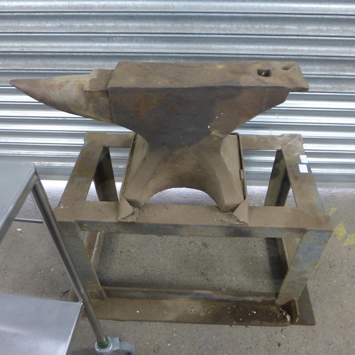 2070 - Large anvil on stand...