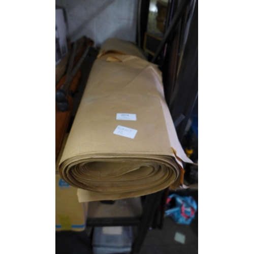 2074 - Roll of brown packing paper...