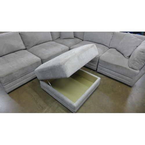 1314 - Mstar 6 piece fabric sectional sofa, RRP £999.91 + vat (4056-26) * this lot is subject to vat