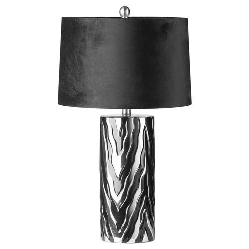 1322 - A Jaspa table lamp with black velvet shade, 62cms (2070552)   #